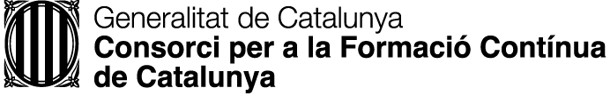 Generalitat de Catalunya Consorci per a la Formació Contínua de Catalunya